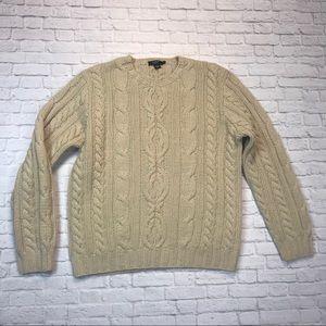 J. Crew hand knit wool sweater large